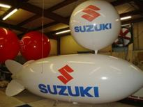 advertising blimps - 20ft. blimp with Suzuki logo - $1825.00 - plain 20ft. blimp from $1334.00